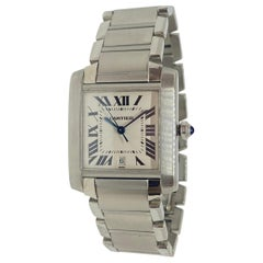 Cartier Tank Francaise Large Steel Automatic Watch #2302
