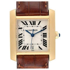 Cartier Tank Francaise Large Yellow Gold Automatic Men's Watch W5000156