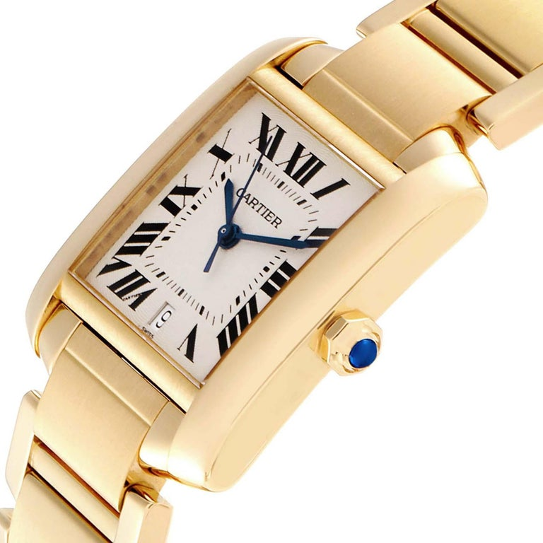 Cartier Tank Francaise Large Yellow Gold Automatic Men's Watch W50001R2 For Sale 1
