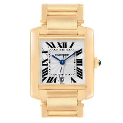 Cartier Tank Francaise Large Yellow Gold Automatic Men's Watch W50001R2