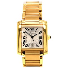 Cartier Tank Francaise Large Yellow Gold Automatic Watch