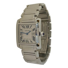 Cartier Tank Francaise Mid Size Polished Steel Quartz Watch CRW51011Q3