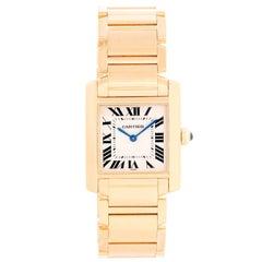 Cartier Tank Francaise Midsize 18 Karat Yellow Gold Watch W50003N2 1821