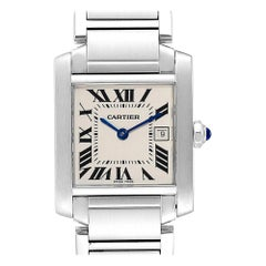 Cartier Tank Francaise Midsize Steel Ladies Watch W51011Q3