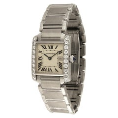 Cartier Tank Francaise Midsize Custom Aftermarket Diamond Bezel Watch 2465