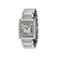 Cartier Tank Francaise Midsize Custom Diamond Bezel 1.1 Carat Watch 2301