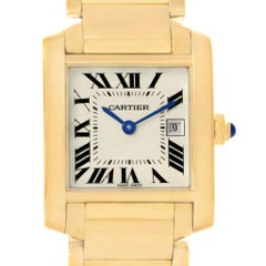 Cartier Tank Francaise Midsize Date Yellow Gold Ladies Watch W50014N2