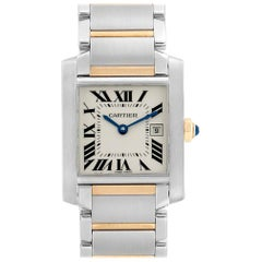 Cartier Tank Francaise Midsize Steel Yellow Gold Ladies Watch W51012Q4