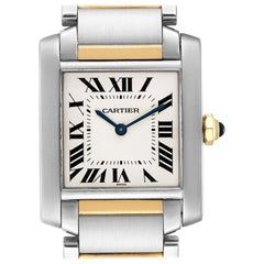 Cartier Tank Francaise Midsize Two-Tone Ladies Watch W2TA0003