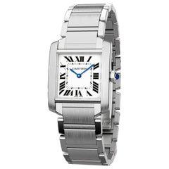 Cartier Tank Française Quartz Movement Medium Model Men's Watch WSTA0005