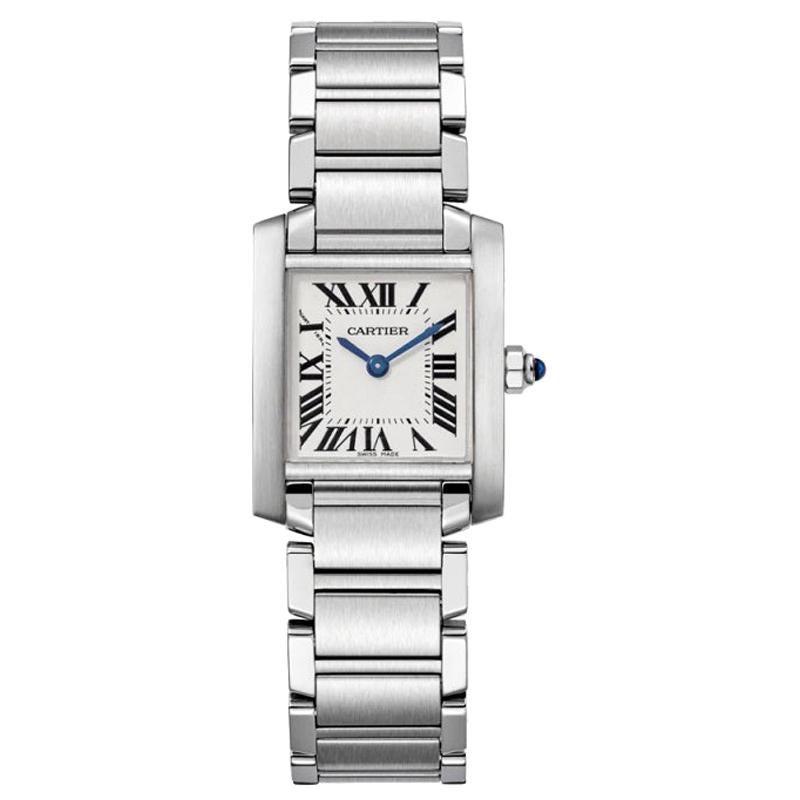 Cartier Tank Française Quartz Movement Small Model Steel Watch W51008Q3