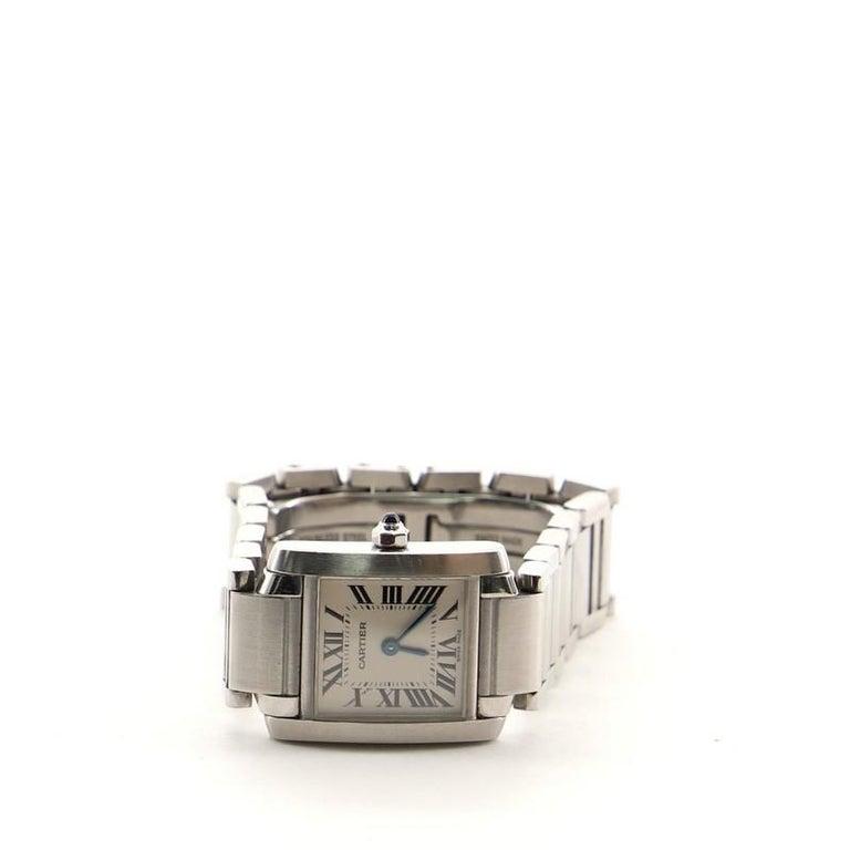 Women's Cartier Tank Francaise Quartz Watch Watch Stainless Steel 20