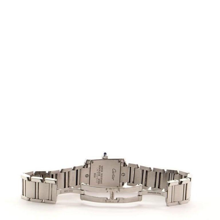 Cartier Tank Francaise Quartz Watch Watch Stainless Steel 20 1
