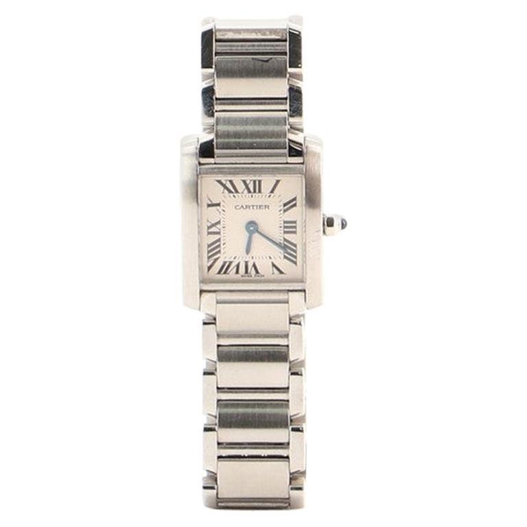 Cartier Tank Francaise Quartz Watch Watch Stainless Steel 20