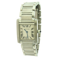 Cartier Tank Francaise Ref. 2384 Small Model Stainless Steel Watch 'Y-33'