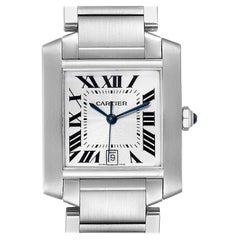 Cartier Tank Francaise Silver Dial Automatic Steel Men's Watch W51002Q3