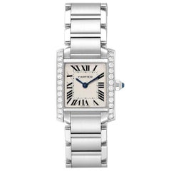Cartier Tank Francaise Small Steel Diamond Ladies Watch W4TA0008
