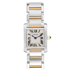 Cartier Tank Francaise Small Steel Yellow Gold Ladies Watch W51007Q4