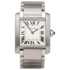 Cartier Tank Francaise Stainless Steel 2301 Wristwatch