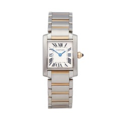 Cartier Tank Francaise Stainless Steel and 18K Yellow Gold 2384