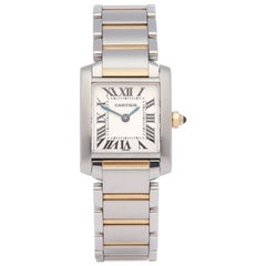 Cartier Tank Francaise Stainless Steel and Yellow Gold 2384