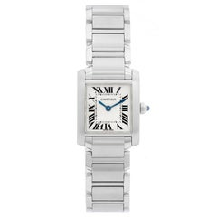 Cartier Tank Francaise Stainless Steel Ladies Watch W51008Q3