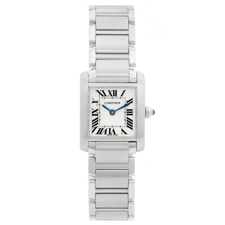 64cf68cf76e87 Cartier Tank Francaise Stainless Steel Ladies Watch W51008Q3 For Sale