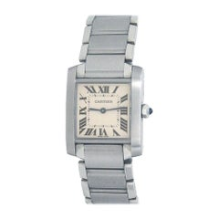 Cartier Tank Francaise Stainless Steel Women's Watch Quartz WSTA0005