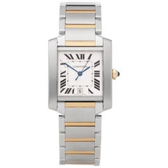 Cartier Tank Francaise Stainless Steel and Yellow Gold 2302