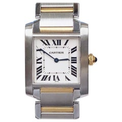 Cartier Tank Francaise Steel and Yellow Gold Mid Size Quartz Wristwatch