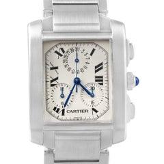 Cartier Tank Francaise Steel Chronoflex Men's Watch W51001Q3 Box