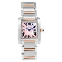 Cartier Tank Francaise Steel Rose Gold Mother of Pearl Watch W51027Q4