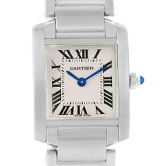 Cartier Tank Francaise Steel Small Ladies Watch W51008Q3 Box