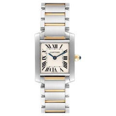 Cartier Tank Francaise Steel Yellow Gold Ladies Watch W51007Q4