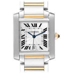 Cartier Tank Francaise Steel Yellow Gold Large Unisex Watch W51005Q4