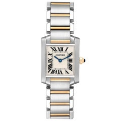 Cartier Tank Francaise Steel Yellow Gold Small Ladies Watch W51007Q4