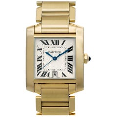 Cartier Tank Francaise W50001R2, White Dial, Certified and Warranty