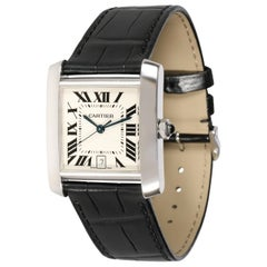 Cartier Tank Francaise W5001156 Unisex Watch in 18 Karat White Gold