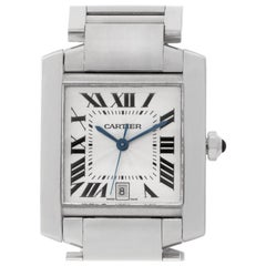 Cartier Tank Francaise W50011S3 18 Karat White Gold Auto Watch