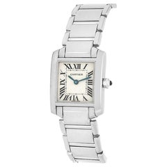 Cartier Tank Francaise W50012S3, Silver Dial, Certified