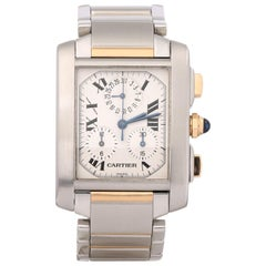 Cartier Tank Francaise W51004Q4 or 2303 Unisex Stainless Steel and Yellow Gold