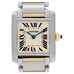 Cartier Tank Francaise W51007Q4, Black Dial, Certified and Warranty