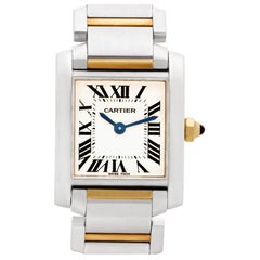 Cartier Tank Francaise W51007Q4, Blue Dial, Certified and Warranty
