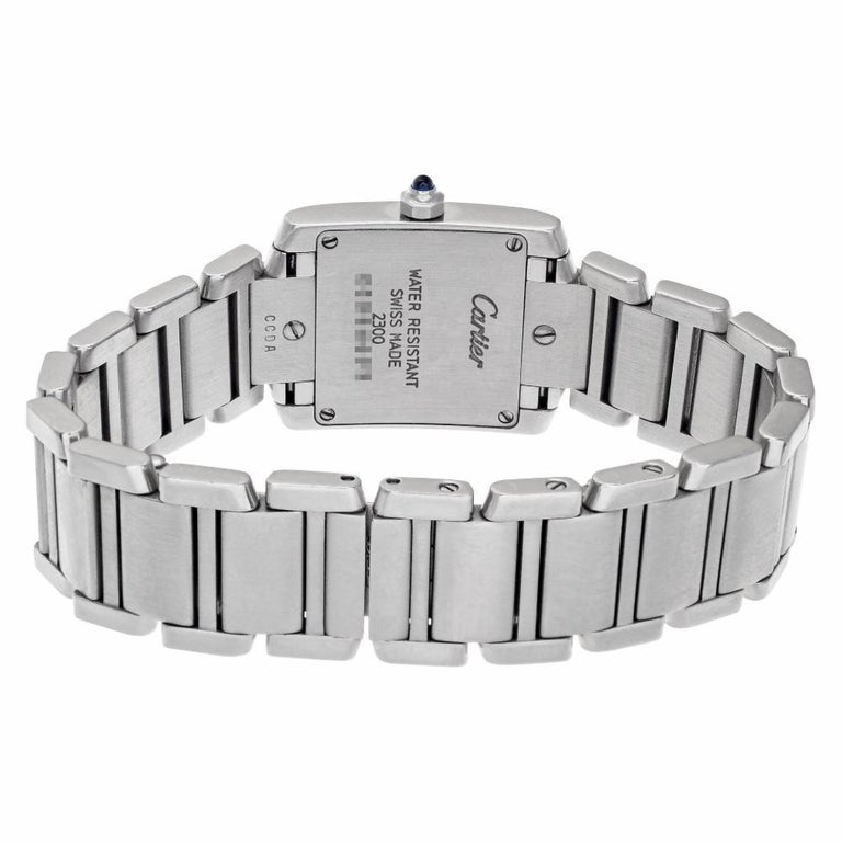 Cartier Tank Francaise W51008Q3, Gold Dial, Certified For Sale 1