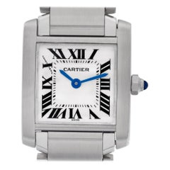 Cartier Tank Francaise W51008Q3, Silver Dial Certified and Warranty