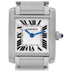 Cartier Tank Francaise W51008Q3, Silver Dial, Certified