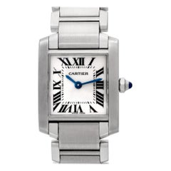 Cartier Tank Francaise W51008Q3, White Dial, Certified and Warranty