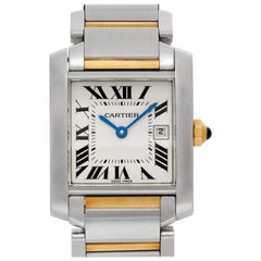 Cartier Tank Francaise W51012Q4, Black Dial, Certified and Warranty