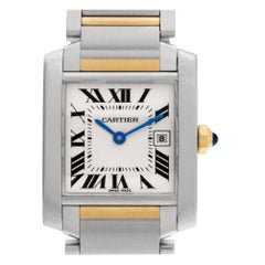 Cartier Tank Francaise W51012Q4, White Dial, Certified and Warranty