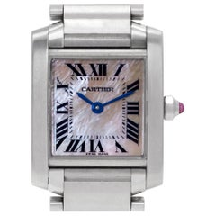 Cartier Tank Francaise W51028Q3, Silver Dial, Certified